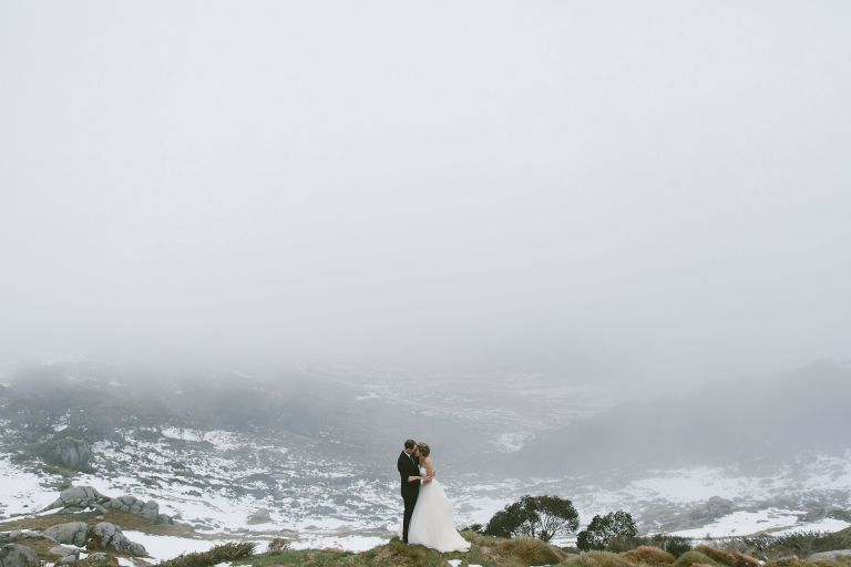 Elopement I photographed at Charlotte Pass