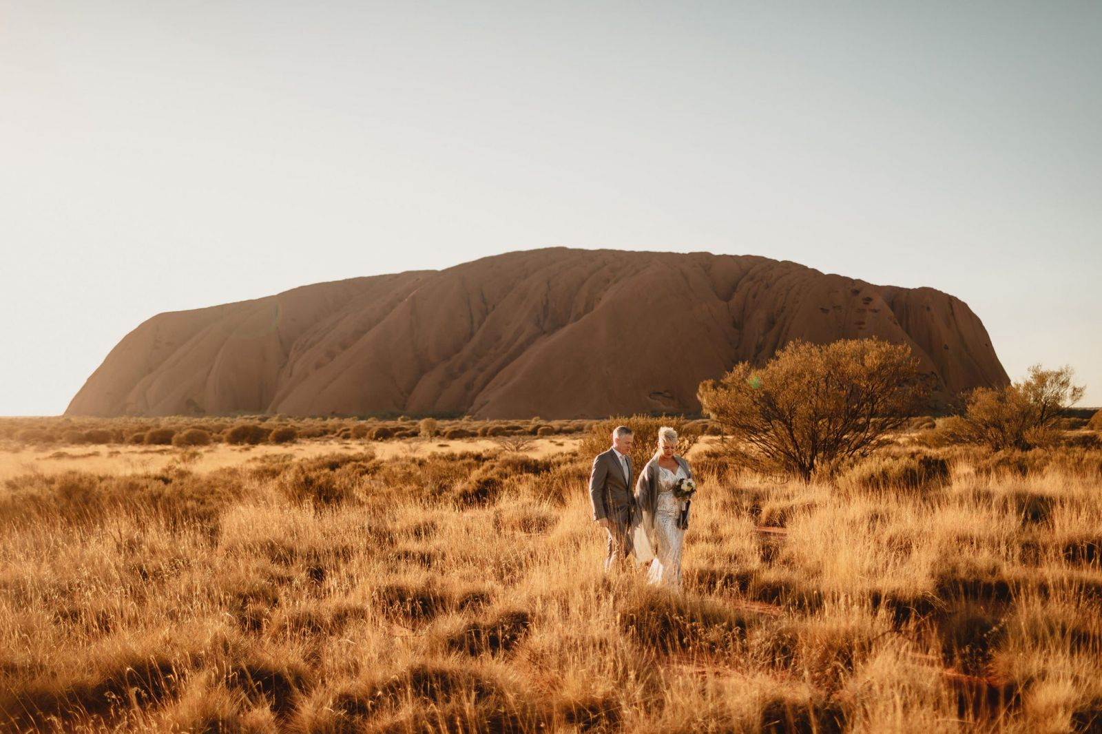 Elopement photographer at uluru