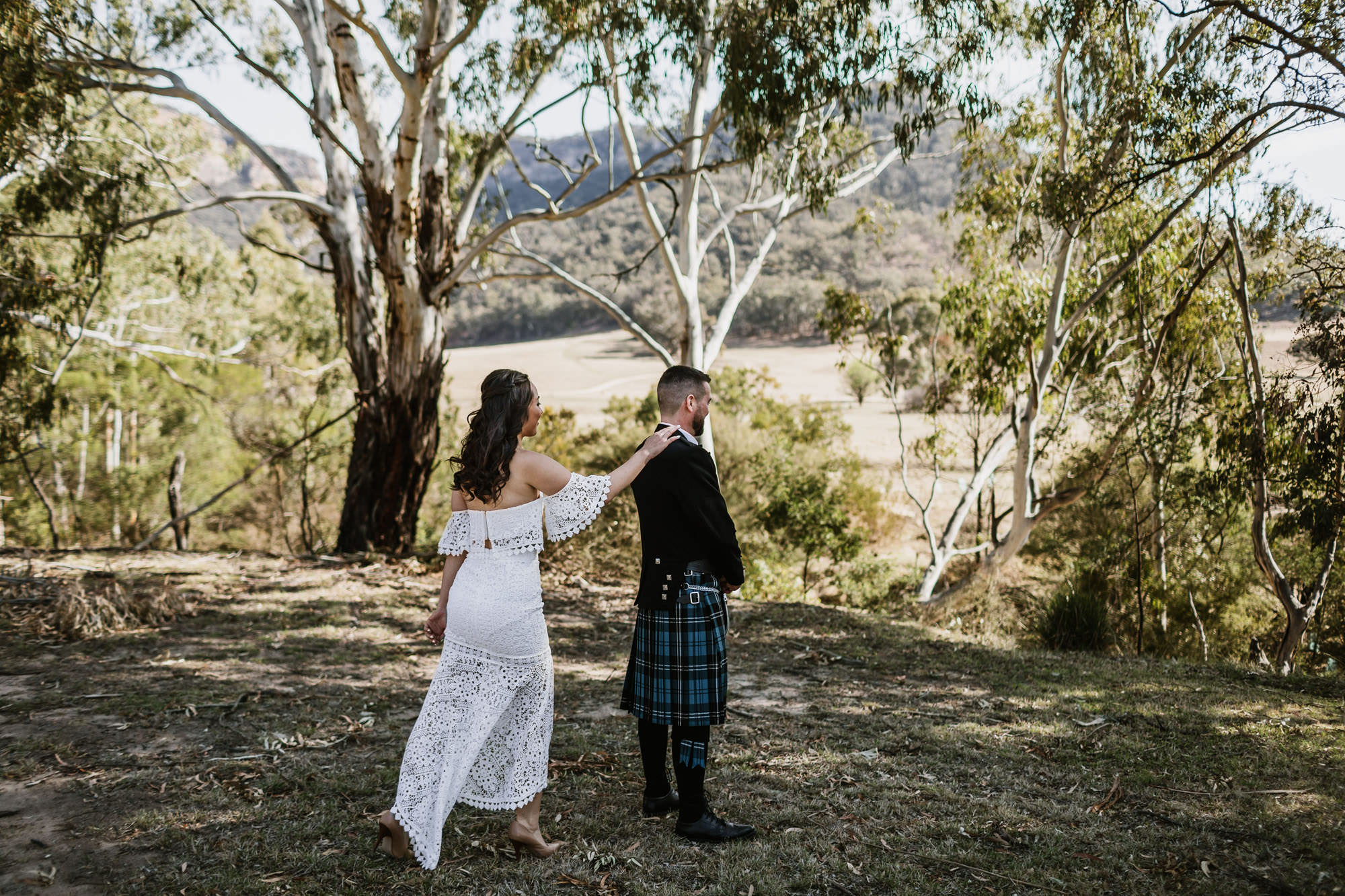 Wolgan Valley elopement first look