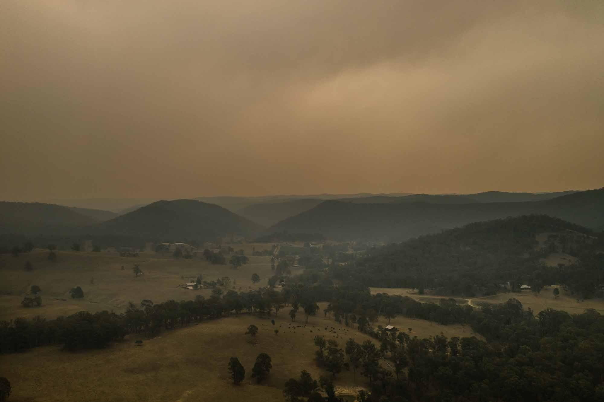 Bushfire wedding Hunter valley